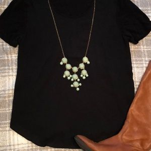 Mint and Gold Bauble long necklace